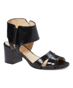 Black Linosa Leather Sandal