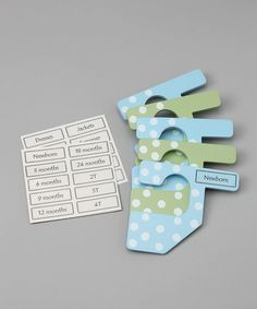 This Blue & Green Polka Dot Infant & Toddler Closet Divider Set by The Happy Closet is perfect! #zulilyfinds