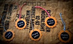 Gorgeous kraft thank you gift tags with rustic twine