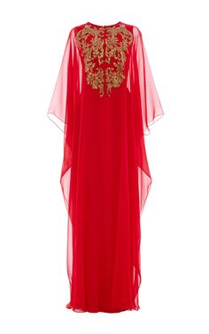 Sequin Embellishment Caftan by REEM ACRA for Preorder on Moda Operandi