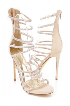 Nude rhinestone heels Nude Heels, Sexy Heels, Stiletto Heels, Spring Shoes, Summer Shoes, High Heel Pumps, Pumps Heels, Rhinestone Heels, Prom Heels