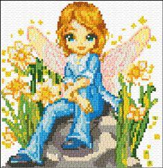 Cross Stitch   Fairy of the Garden xstitch Chart   Design