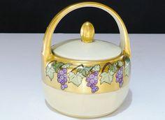 Vintage Porcelain  Z.S. Bavaria Sugar Bowl Heavy by designfinder