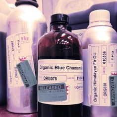 Organic essential oils in our supply room!