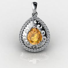 #citrinejewellery #citrine #brilliyond #citrinenecklace #citrinependant #lacependant