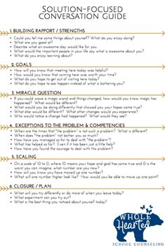 Guide in Solution Focused Toolbox! Goal Setting & Strength-Based Interventions for Student Success Guide in Solution Focused Toolbox! Goal Setting & Strength-Based Interventions for Student Success,Therapy Related Steps to Teaching Social Skills -. Coping Skills, Social Skills, Social Issues, Solution Focused Therapy, Counseling Techniques, Motivational Interviewing, Mental Health Counseling, Mental Health Jobs, Mental Health Therapy