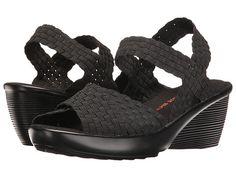 573e294a565d1d bernie mev. Fresh Buttercup. Black Wedge SandalsWedge ShoesBlack  WedgesWomens ...