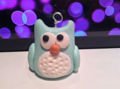 Owl Charm by PunkInPink on Etsy