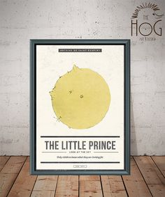 The Little Prince  Le Petit Prince  Unique Minimal by HogArtDesign