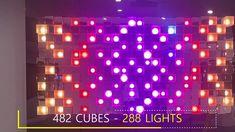 Ralfonso - SENSE - Interactive Light & Clock Mural and Sculpture Wall Sculptures, Sculpture Art, Kinetic Art, Science And Technology, Cube, Clock, Lights, Watch, Clocks