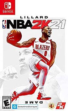 Amazon.com: NBA 2K21 - Nintendo Switch: Take 2 Interactive: Video Games Portland Trail Blazers, Basketball Video Games, Nba Basketball, Raptors, Nintendo Switch Nba, Lebron James, Fantasy Team, Games Today, 2k Games