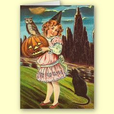 Old fashion Halloween cards always hold a special place in my heart.