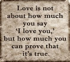 Love is an action word!!!