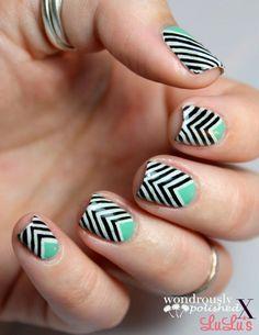 DIY Chevron Nail DIY Nails Art