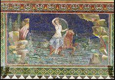 Rape of Europa, from Herculaneum (mosaic). Roman, (1st century BC) / Musee Conde, Chantilly, France / Giraudon / The Bridgeman Art Library