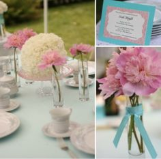 Breakfast at Tiffany's Bridal Shower - table decor