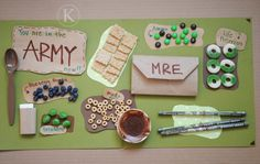 Army Theme: Army Snack Mat