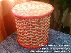 Cestería de papel. Combinación de tejido indiano con tejido cuerda. DIY - YouTube