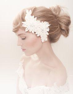 iris wedding fascinator