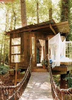 Tree/Stilt House Studio-Ahhh! I love this :) I'm sure it would be amazing to have in the woods behind your home-your own little getaway :)