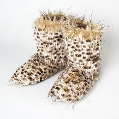 We're wild for these Furry Leopard Boots