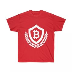 Bitcoin Shield design T-Shirt — Ultra cotton T-shirt with a bold Bitcoin Shield design. We have lots of Bitcoin T-shirts and merchandise at CryptoShopper!