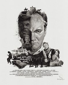 Quentin Tarantino - Movie Director Portrait Fine Art Gicee Print, printed on a beautifully textured, acid-free cotton paper (190gsm) by Hahnemuhle Printed with archival, museum quality pigment ink 40cm x 50cm (approx. 16 inch by 20...