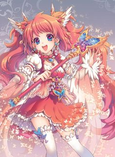 Kawaii!! Need to remember that Magical Girl outfits can be very excessive...Like the hairpieces