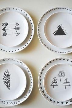 Juego de platos - ¡Be happy, be hipster!