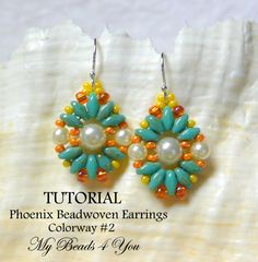 Great project. Works up quickly. Great with jeans and a tee or your special dress. You will enjoy wearing these light weight earrings. Beadwork