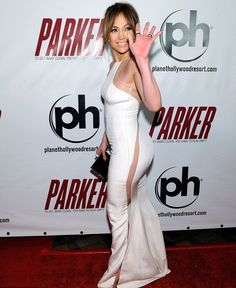 J-Lo hitting the red carpet without wearing .....