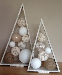 In this DIY tutorial, we will show you how to make Christmas decorations for your home. The video consists of 23 Christmas craft ideas. Wooden Christmas Decorations, Homemade Christmas, Christmas Tree Ornaments, Christmas Diy, Holiday, Mery Chrismas, Alternative Christmas Tree, Christmas Living Rooms, Theme Noel