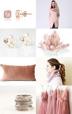 Rose Quartz - The Color of the Year 2016 by virginia geiger on Etsy--Pinned with TreasuryPin.com