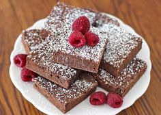 Healthy Fudgy Cocoa Brownies - Desserts with Benefits