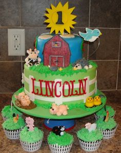 farm animal birthday   FARM ANIMAL BIRTHDAY — Children's Birthday Cakes