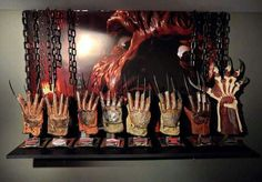 Freddy Krueger's hand collection