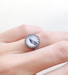 Silver Feather Ring // Adjustable Ring // Antique by PinkTwig, $14.00