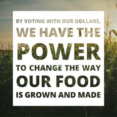 The power of the people is strong. By making conscious purchasing decisions and investing in the products that support changes we want to see in the world, we can build a non-GMO food supply.