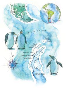 Watercolor maps by Steven Stankiewicz at Coroflot.com