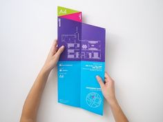 Brochure   Cool Fold! I wonder how it would sit in a rack. Must h...