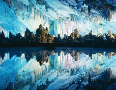 The Reed Flute Cave (Chinese Lúdí Yán) is a landmark and tourist attraction in Guilin, Guangxi, China