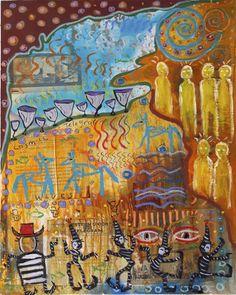 """Cosmic Telegraph"" by painter Kelly Moore of Santa Fe New Mexico… www.kellymoore.net"