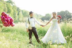 Hochzeit mit pinken Ballons von fräulein flora FOTOGRAFIE