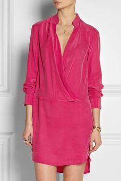 Thakoon | Wrap-effect washed-silk dress | NET-A-PORTER.COM
