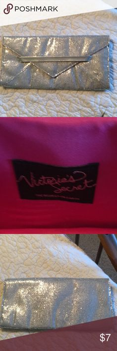 Purse Victoria Secret Silver Clutch Victoria's Secret Bags Clutches & Wristlets