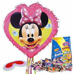 Has she always dreamed of having a Minnie Mouse birthday party? Wholesale Party Supplies has everything you need to make this happen, such as our Minnie Mouse Birthday Party Supplies. Minnie Mouse Pinata, Mickey Mouse Party Decorations, Minnie Mouse Clubhouse, Minnie Mouse 1st Birthday, Mickey Mouse Parties, 1st Birthday Party Supplies, Birthday Box, 1st Birthday Parties, Wholesale Party Supplies