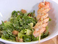 Caesar Salad with Grilled Shrimp from FoodNetwork.com
