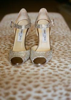 Jimmy Choo Bridal Shoes #IdoInChoo // Photo: James Christianson / Featured: The Knot Blog