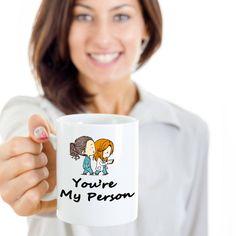 Greys Anatomy Mug You're My Person Mug You Are My Person Mug Greys... (125 SEK) ❤ liked on Polyvore featuring home, kitchen & dining, drinkware, drink & barware, home & living, mugs, silver, coffee tea mugs, gray coffee mugs and grey coffee mugs