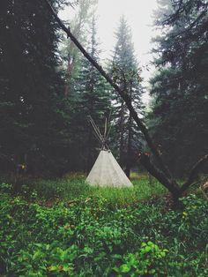 Silver Pencils: Mountain Living... neighborhood teepee